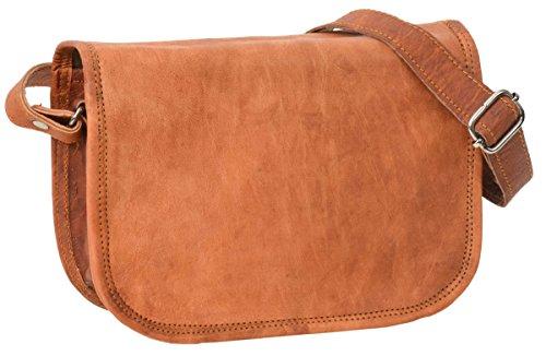 Gusti Borsa Pelle in vera pelle - Summer borsa a tracolla borsa da donna piccola in vera pelle marrone