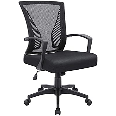 VICTONE Office Mid Back Mesh Chair Ergonomic Swivel Lumbar Support Desk Computer Chair