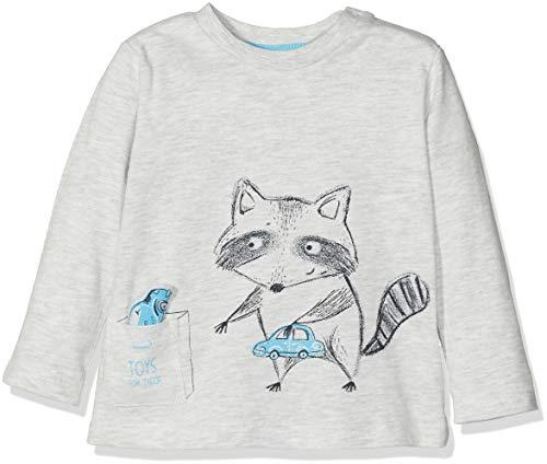 TOM TAILOR Kids TOM TAILOR Kids Baby-Jungen T-Shirts 1/1 Langarmshirt, Beige (Lunar Rock Melange|Beige 8439), 74