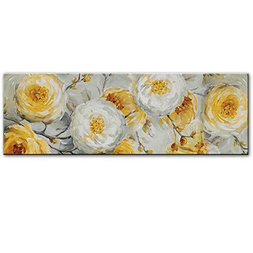 N / A Flor Pintura al óleo sobre Lienzo impresión Cartel Pared y Cartel hogar Flor Pared Imagen para decoración del Dormitorio Pintura