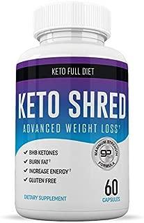 Keto Ultra Shred Diet Pills - Keto Advanced Weight Loss Fat Burners for Women and Men | Keto BHB Salts to Burn Fat Fast on Keto Diet | Ketogenic Keto Slim Supplement |Exogenous Ketones - 60 Count
