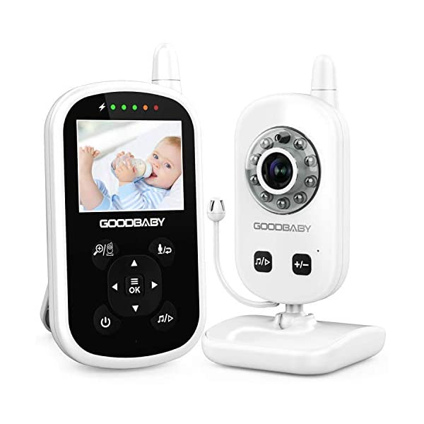 Video Baby Monitor with Camera and Audio – Auto Night Vision,Two-Way Talk, Temperature Monitor, VOX Mode, Lullabies, 960ft Range and Long Battery Life