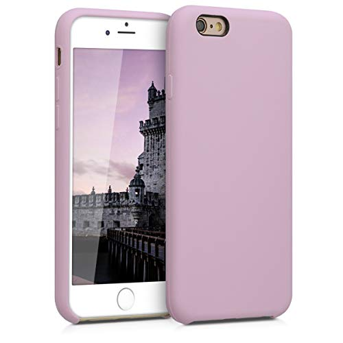 kwmobile Funda Compatible con Apple iPhone 6 / 6S - Carcasa de TPU para móvil - Cover Trasero en Malva Pastel