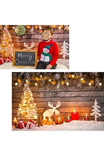 WaWbackdrop Christmas Sfondo Fotografico Natale Bambini Bambino 7x5ft Sfondi Fondale Fotografici Natalizi Legno Festival