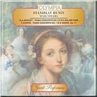 Mozart - Piano Concerto No. 23 in a Major K488 / Chopin - Piano Concerto No. 1 in E Minor, Op.11 - Stanislav Bunin, Yuzo Toyama (1987-05-03)