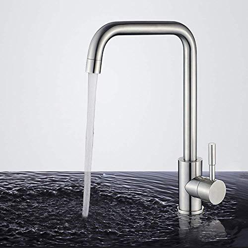 Homelody 360° drehbar Wasserhahn Küche Armatur Küchenarmatur Mischbatterie Einhebelmischer Spültischarmatur Edelstahl Spültisch Küchenhahn Spüle für Küchen