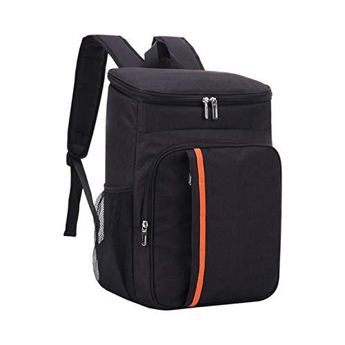 AUTUUCKEE Oxford Cloth Cooler Mochila impermeable al aire libre Gran capacidad playa Picnic Soft Bag (negro)