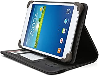 Vulcan Journey 7 Inch Tablet Case, UniGrip PRO Series - GRAY - By Cush Cases (Case Features Top Quality PU Leather with Bulit In Stand, Hand Strap, 3 Card Slots and SIM Card Holder)
