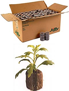 1000 Count (Full Case) - Jiffy 7 Peat Pellets - Seed Starter Soil Plugs - 36 mm - Start Seedlings Indoors - Easy To Transplant to Garden