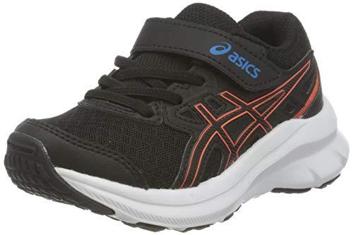 Asics Jolt 3 PS, Road Running Shoe, Black/Reborn Blue, 35 EU