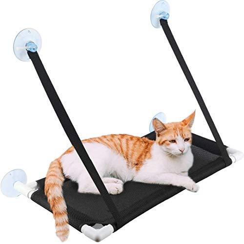 FayTun Cama para ventana de gato, transpirable, mejorada, para ventana de gato, con 4 ventosas ultra resistentes, para colgar en el sol, para gatos de hasta 10 kg