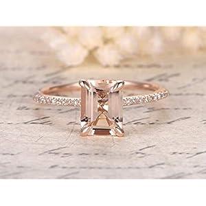 1.25 Carat Antique Design Morganite and Diamond Engagement Ring for Women In Rose Gold
