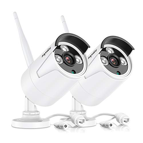 SANNCE 1080P Telecamera CCTV Senza Fili 2.0MP Outdoor Impermeabile Metallo Fotocamera Espandibile per N441H, N441K, N48WHE(2 pezzi)
