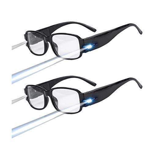 YDYJ 5PCS LED Gafas De Lectura Anti Blue Light Glasses Fisioterapia Imanes Reset Vision Camping...