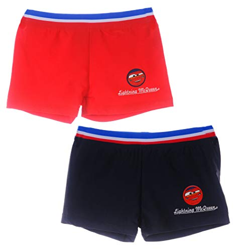 Pixar Schwimmhose Cars McQueen Badehose Shorts Schwimmboxer Kinder 92 98 104 110 116 122 128 (122-128, rot)