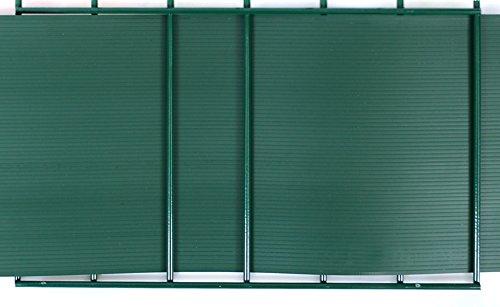Gartenwelt Riegelsberger Premium Sichtschutzstreifen Hart-PVC für Doppelstabmatten Grün RAL 6005 Länge 2,525 Meter Höhe 19 cm Stärke 1,35 mm 1 Stück