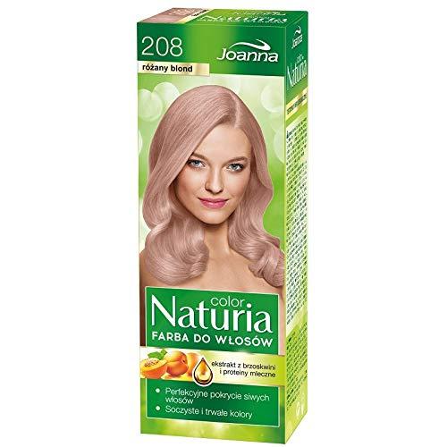 Joanna Naturia Haarfarbe, deckt graues Haar, alle Farben erhältlich, 208 Roséblond