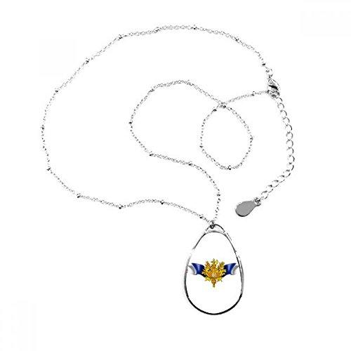 DIYthinker Francia Bandera Nacional Emblema lágrima Forma Colgante Collar Joyas con Cadena decoración Regalo