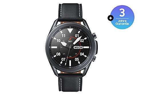 Samsung Galaxy Watch3, runde Bluetooth Smartwatch für Android, drehbare Lünette, Fitnessuhr, Fitness-Tracker, großes Display, 45 mm, schwarz, inkl. 36 Monate Herstellergarantie [Exkl. bei Amazon]
