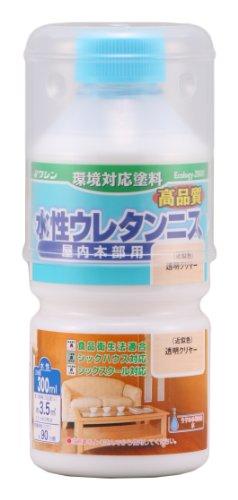 和信ペイント 水性ウレタンニス 透明クリヤー 300ml 屋内木部用 ウレタン樹脂配合 低臭・速乾