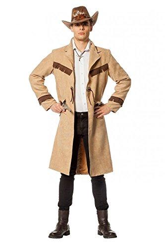 Abrigo de vaquero con aspecto de ante para hombre, talla 56