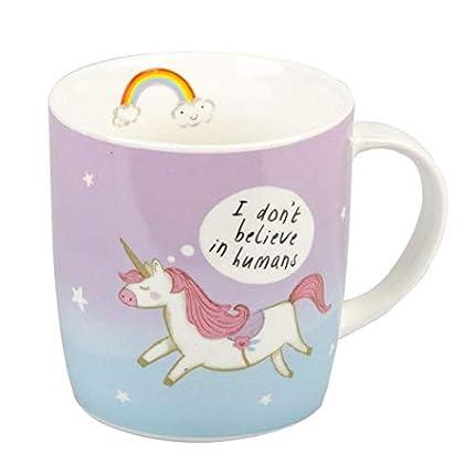 Attitude Clothing Don't Believe In Humans Unicorn Mug