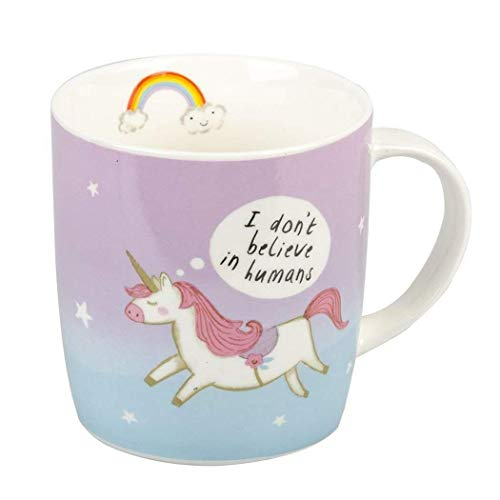 Attitude Clothing Don't Believe In Humans Unicorn Mug