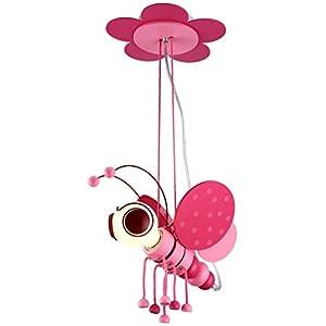 TRRE Mignon Abeilles Pendentif Lumière, Cartoon Creative Fille Princesse Chambre LED Pendentif Lumière, E27 * 1,220V Luminaires intérieur