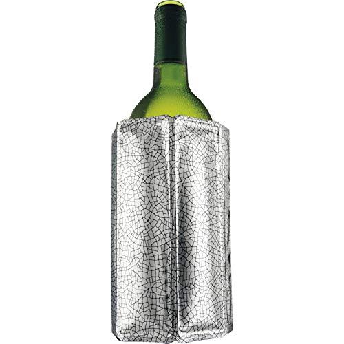 Vacu Vin 38803606 Aktiv Kühler Motiv Silber 0,7  - 1,0 Liter