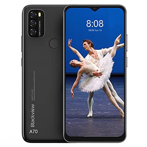 Android 11 Smartphone, Blackview A70 Smartphone Economici con 5380mAh Batteria. Octa Core 3 GB RAM + 32 GB ROM. Schermo Full HD+ 6.517 . Offerte Smartphone con Fotocamera da 5MP + 13MP