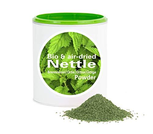 Poudre d'ortie bio séchée à l'air – Qualité crue | Ortie bio de culture européenne | bio| vegan | Good Nutritions | 1 kg