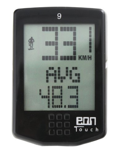 Echowell EON Touch 9 - Ciclocomputador, Color Negro