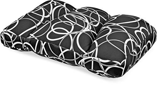 Invitalis Kuschel-Maxx - Orthopädisches Schlafkissen für jeden Schlafstil - Atmungsaktiv, Öko tex 100 Zertifiziert & flauschig weich mit Mikroperlen Füllung - 60x40 cm - Schwarz / Weiß Linien