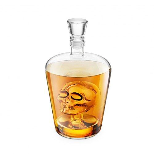 Final Touch Brainfreeze Skull Decanter Carafa a Decanter Idéal pour Vodka Whisky, Scotch, Rhum Tequila & More - Peut contenir jusqu'à 1 Litre (33,8 oz) - FTA1864
