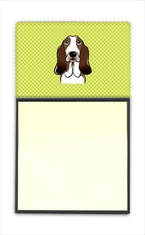 Checkerboard Very popular Lime Green Basset Hound Sticky Hol Note In stock Refiillable