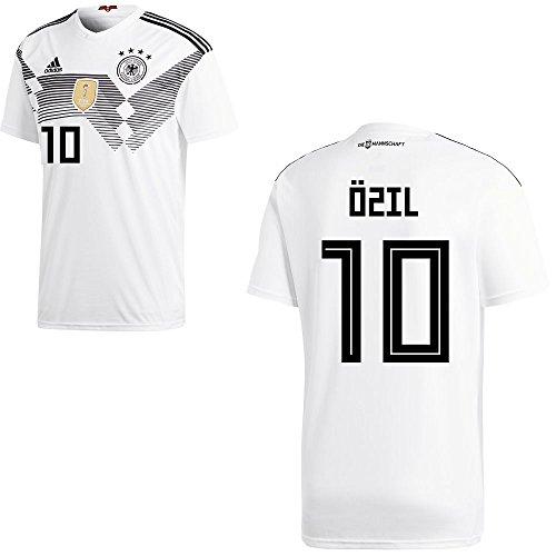 adidas DFB Deutschland Fußball Trikot Home Heimtrikot WM 2018 Herren Kinder mit Spieler Name Farbe Özil, Größe XL