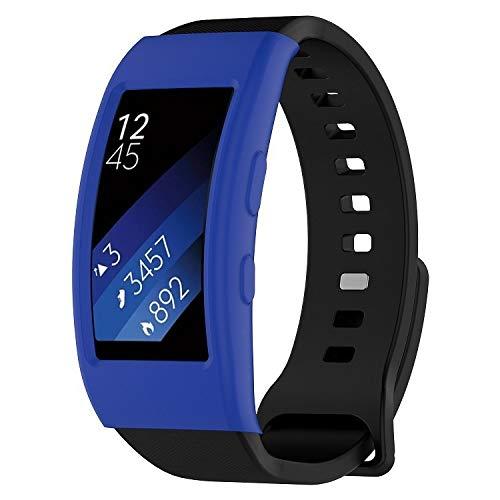 PENGCHUAN Ver Shell Funda Protectora de Reloj Galaxy Gear Fit2 / Fit2 Pro R360 (Color : Dark Blue)
