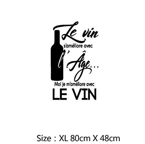 Xxscz Wijn Spaans en Frans Citaat Muursticker voor Keuken Of Eetkamer