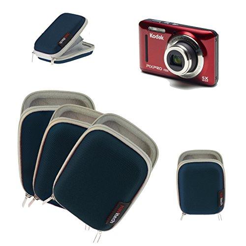 Navitech Blaue Wasser wiederständige Harte Digital Kamera Tasche für das Kodak Pixpro SP360 4K