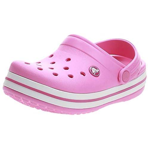 Crocs Crocband Clog Kids, Zoccoli Unisex-Bambini, Rosa (Party Pink), 22/23 EU