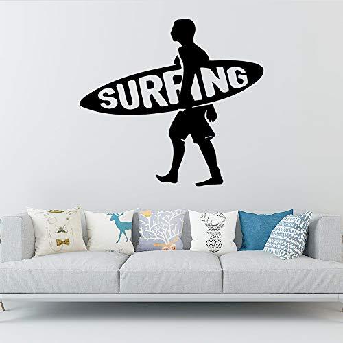 Surfen abnehmbare Kunst Vinyl Wandaufkleber Kinderzimmer Wohnkultur 42 * 46cm