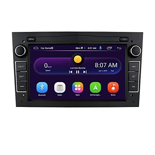 Doble DIN Car GPS Navigation Android 10 OS Pantalla táctil de 7 Pulgadas para Opel Antara/Astra H/Combo/Meriva, Bluetooth Car Radio + CANBUS Soporte iOS y Android-Mirror-Link (Negro)
