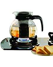 Borosil - IH11KF15215 Carafe Flame Proof Glass Kettle with Infuser, 1.5L
