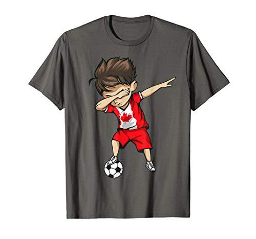 Dabbing Soccer Boy Canada Jersey Shirt - Canadian Football