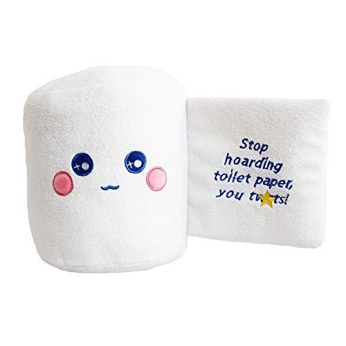 Lecheng Toilettenpapier Plüsch Spielzeug Rollenpapier Puppe Kreative Dekoration Geschenk - Hören Sie auf Toilettenpapier zu Horten