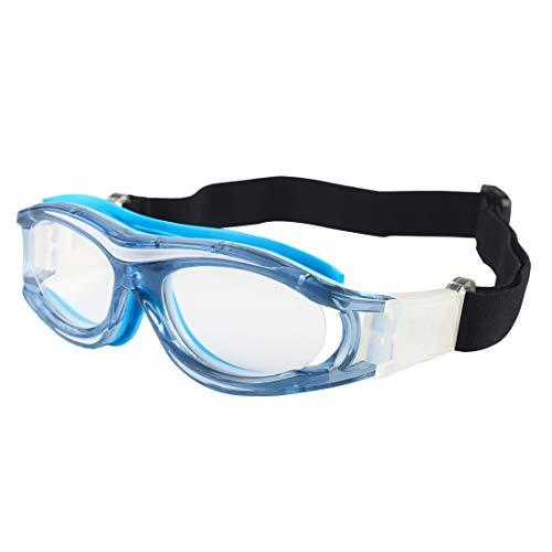 Andux Niños Baloncesto Fútbol Fútbol Deportes Gafas Protectoras Gafas Gafas de Seguridad para Ojos LQYJ-04 (Azul)