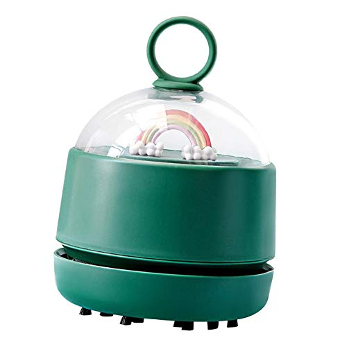 Baoblaze Mini aspiradora portátil, barredora de Polvo de Mesa portátil Ahorro de energía, barredora de Migas de Escritorio para Teclado/hogar/Escuela/Oficina - Verde