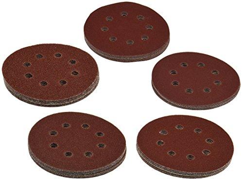ChiliTec Lot de 50 disques abrasifs Pro-XL'Ø125 mm - Grain 10 - K40-60-80-120-180