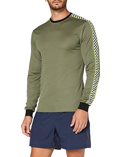 Helly Hansen Men's HH Lifa Stripe Crew Ls T-Shirt, Lav Green, 2X-Large