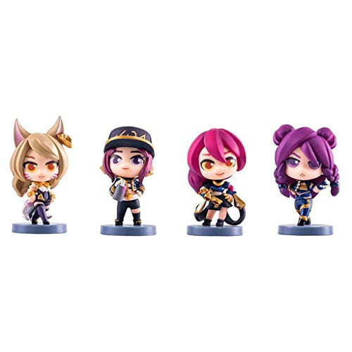Luck7DZ Der K/DA 4pcs Ahri KAI'SA Akali Evelynn League of Legends Exquisite PVC Action-Figur mit Exquisite Box